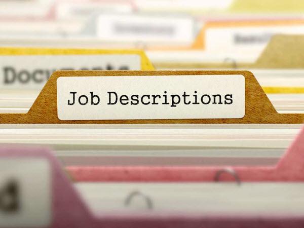 Document labelled with Job Description