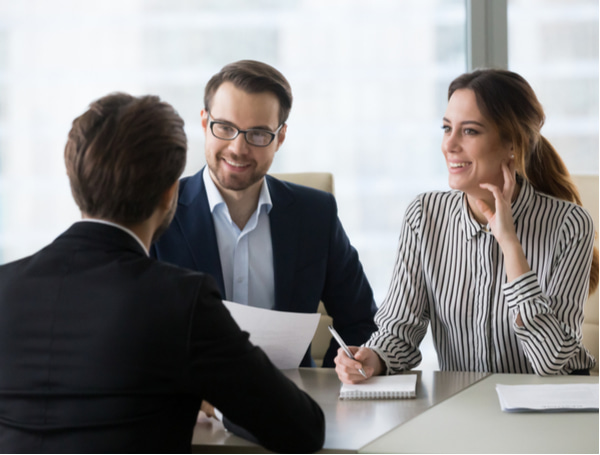 Smiling diverse HR managers