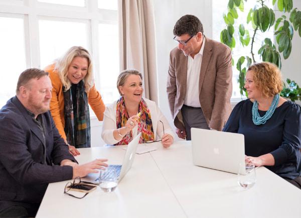 Team having a meting